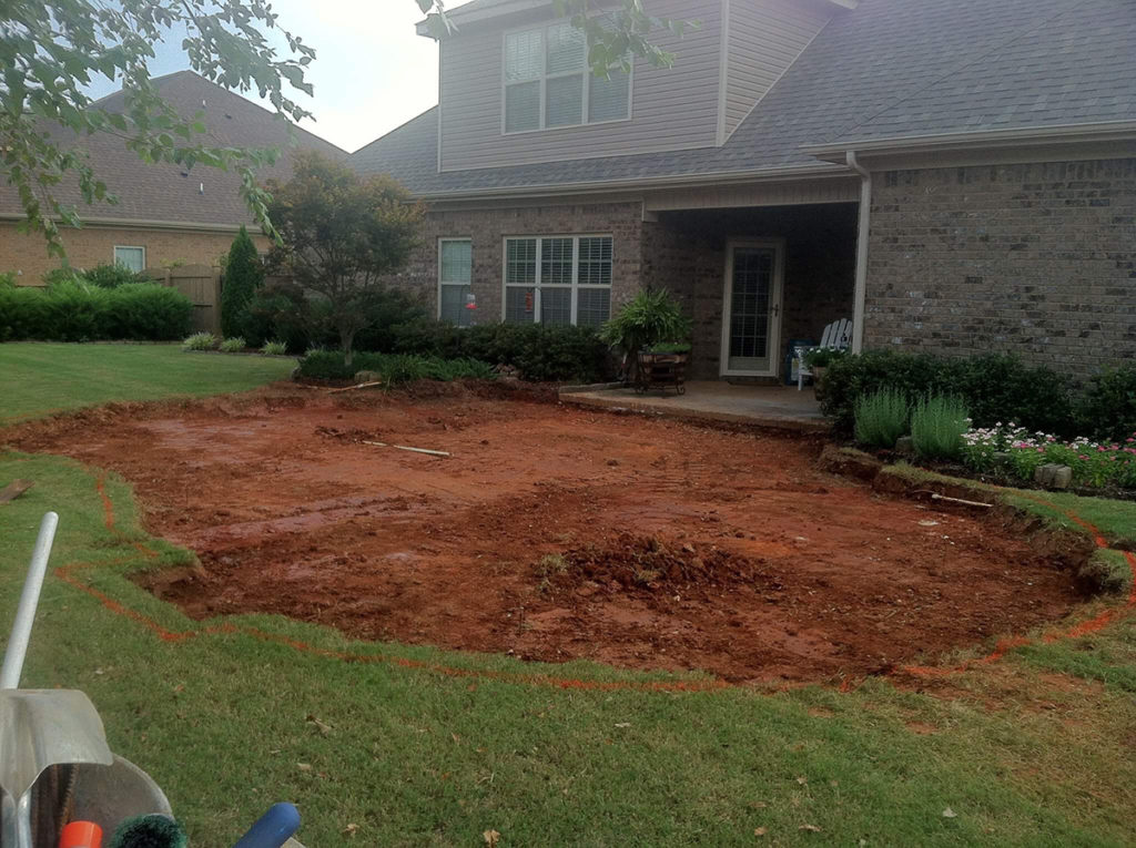 HIS Landscaping Before