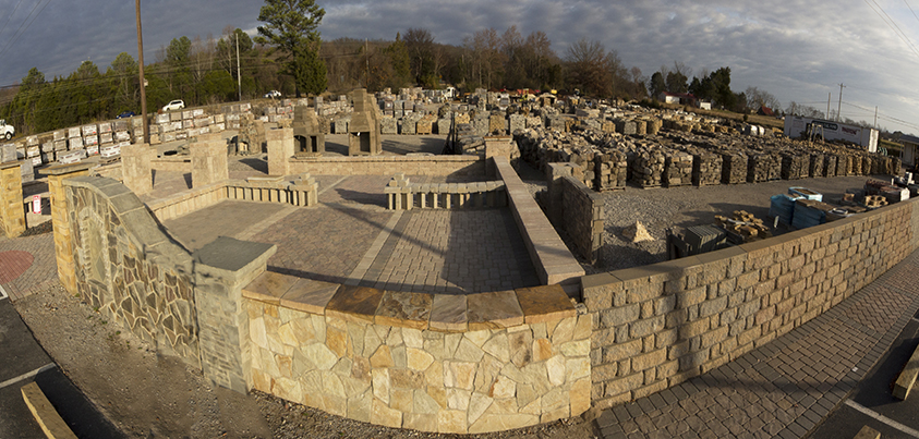 Hardscapes Yard Panorama