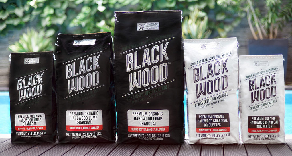 Black Wood Charcoal Bags