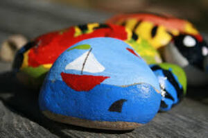 Group of Painted Rocks