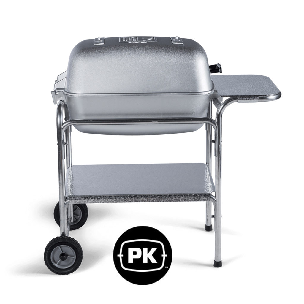 Pk grill with logo