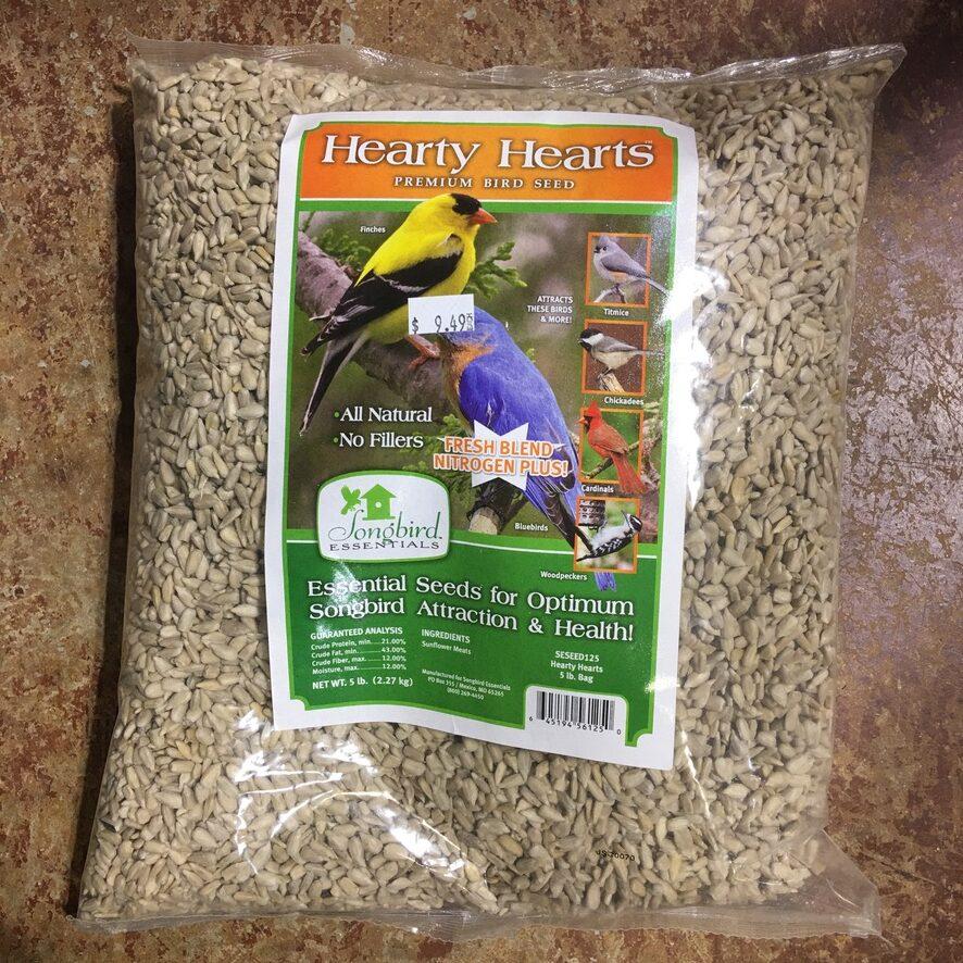Hearty Hearts Premium Bird Seed for Songbirds. 5lb $9.49 each