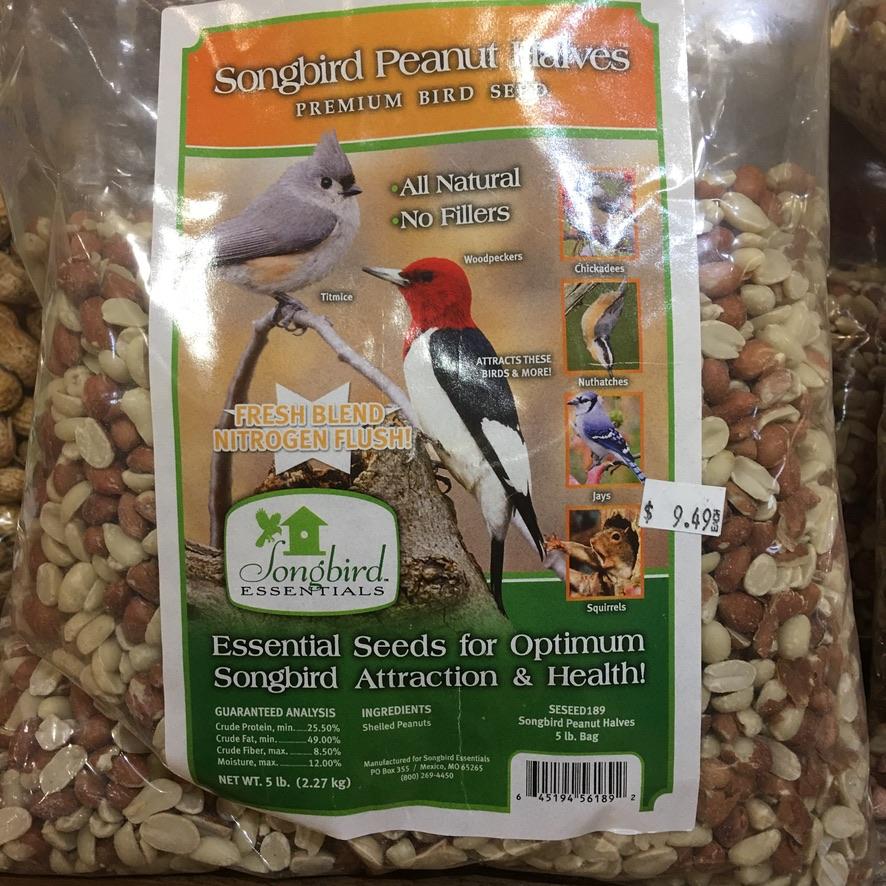 Songbird Peanut Halves 5lb $9.49