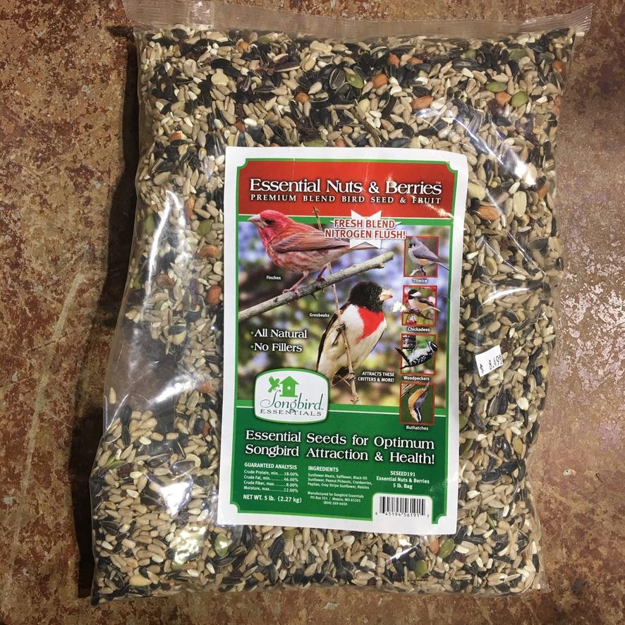 Essential Nuts & Berries - Premium Blend Bird Seed & Fruit 5lb. $8.49