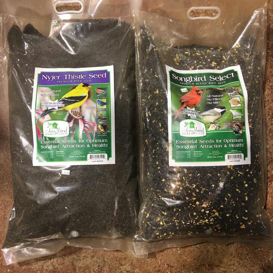 Nyjer Thistle Seed 20lb $35.99 & Songbird Select 20lb $19.99